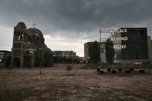 A Place Beyond Belief by Nathan Coley