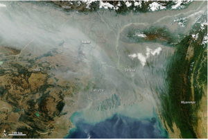Calcutta smog satellite